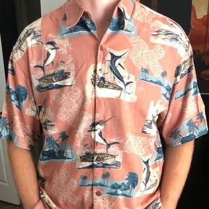 Party shirt!! Guy Harvey Hawaiian Button Down